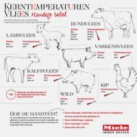 Kerntemperaturen voor elk type vlees
